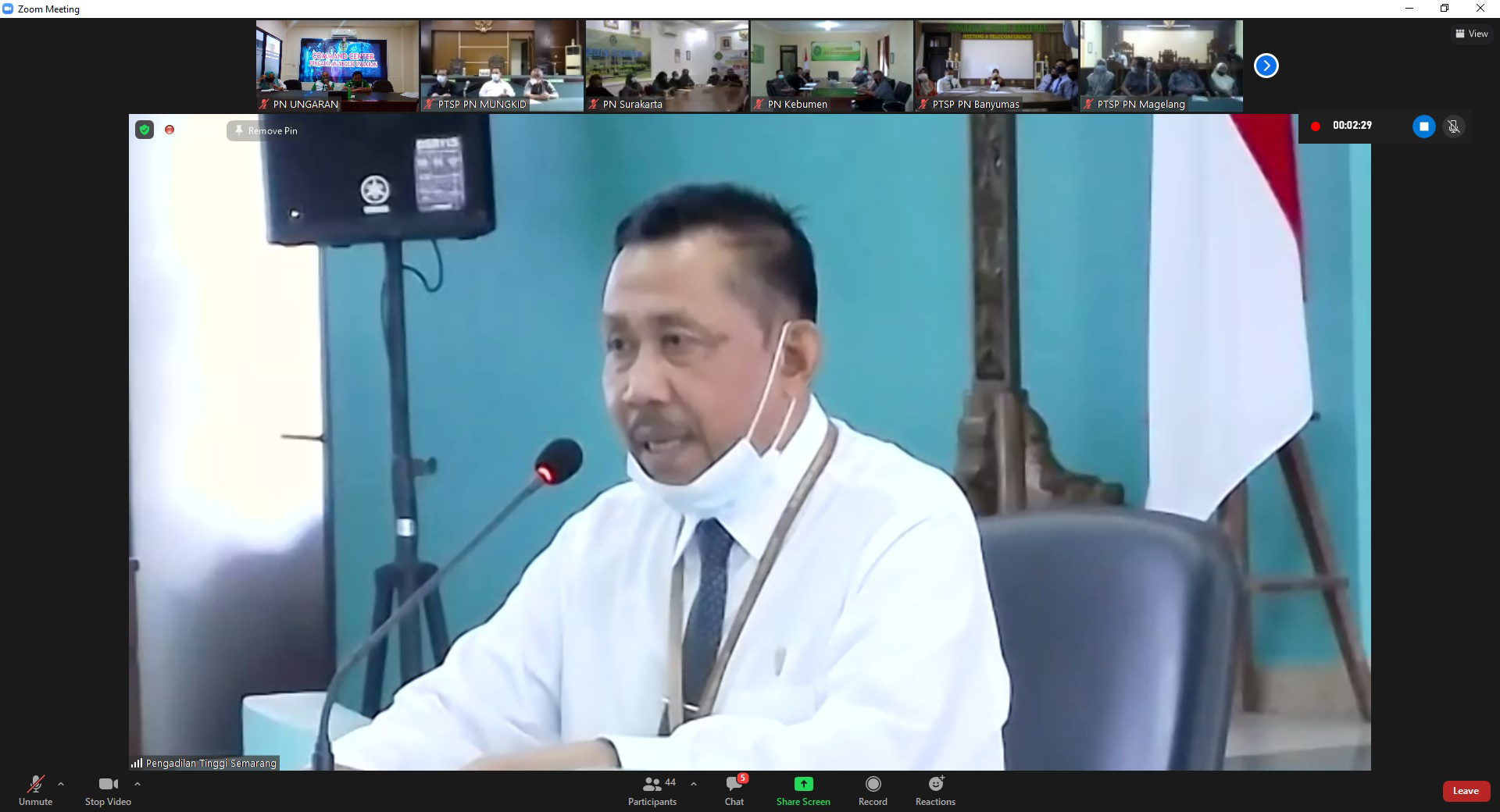 Sosialisasi Layanan PTSP oleh Pengadilan Tinggi Semarang bekerjasama dengan BRI Kanwil Semarang