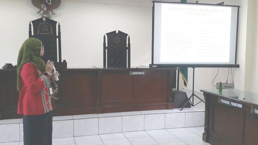 Sosialisasi COVID - 19 oleh dr. Hasti Wulandari Dinas Kesehatan Kab. Semarang