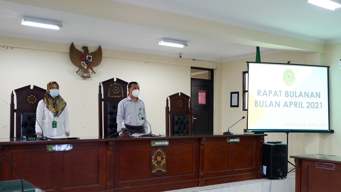 Rapat Bulanan Pengadilan Negeri Ungaran