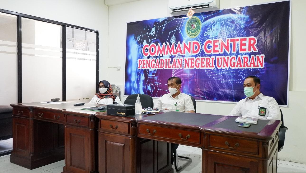 Rapat Dinas Bulan Juli 2021 Dengan Pengadilan Tinggi Jawa Tengah Secara Virtual