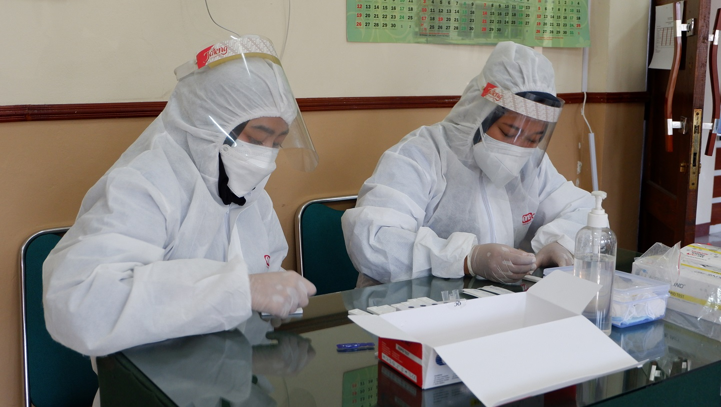 Pelaksanaan Swab/Rapid Antigen pada Pengadilan Negeri Ungaran