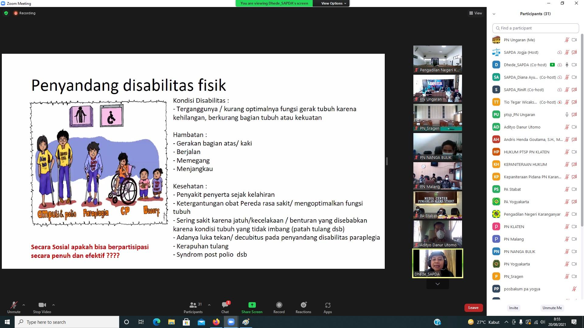 Pelatihan Mengenal Kebutuhan Khusus dan Cara Berinteraksi dengan Disabilitas Fisik